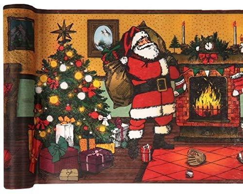 Sachsen Versand 5 Meter Nr.6 Tischläufer-Deco-Band Weihnachten Merry Christmas