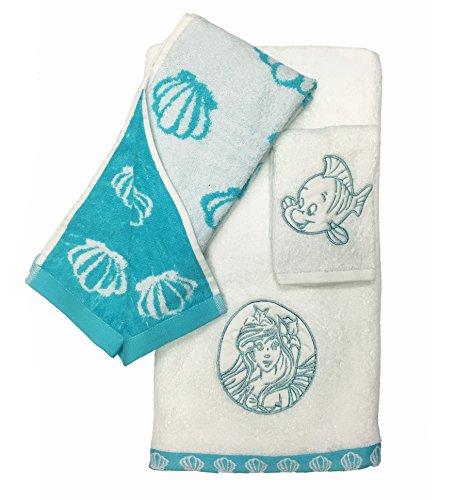 Disney Little Mermaid Ariel 3 Piece Cotton Bath Towel Set