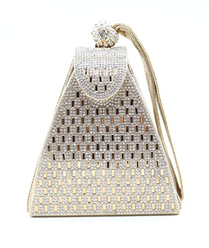 allx Full Rhinestone Fashion Evening Bag Triangle Women -$10.50(58% Off)