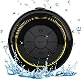 Guzack Waterproof Bluetooth Shower Speaker, Portable Wireless Speakerphone with Suction Cup for Outdoor Bathroom Pool Hands-Free Mini Speakers Pairs Easy to Mobile Phones, Tablets, Computers, Radios