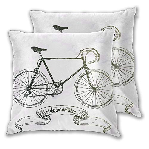 CONICIXI Throw Pillow Covers Set of 2 Pide Your Bike Pillowcase for Living Room Bedroom Sofa Couch Decorative Cushion Cover without Pillow 60cm x 60cm