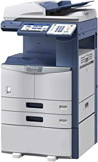 Toshiba E-STUDIO 356 Black and White MFP Copier/Printer/Scanner All-in-One - 11x17, 35ppm, Copy, Print, Scan, Network, Duplex, USB, 2 Trays and Cabinet (Certified Refurbished)