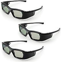 Docooler GL410 3D-Brille für Projektor Full HD Active DLP Link Kompatibel mit Optama..