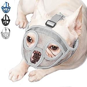 ILEPARK Muselière pour Chiens à museau Court, muselière Bulldog Anti-mordillage, Mastication, aboiement, Masque pour Chien