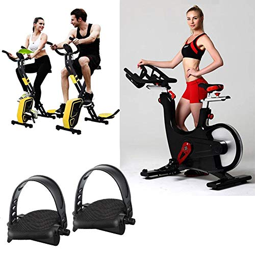 Blossomer hometrainer met verstelbare riem, parkeerhulp/spinning fiets/reservepedaal set voor sporttoestellen en fiets