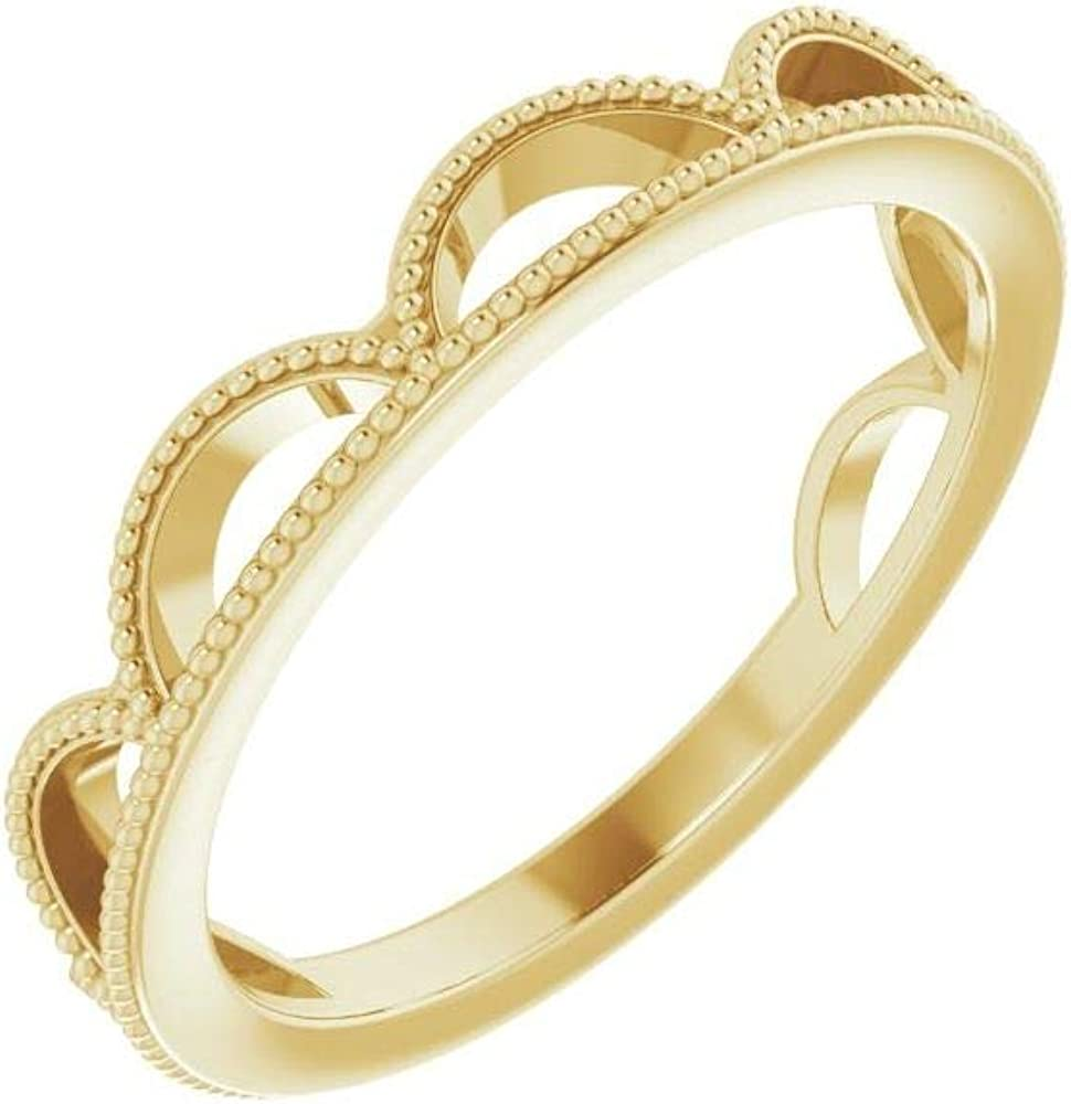 Stackable Wedding Spring new work one after another Anniversary Ring Width 4mm Band Raleigh Mall =