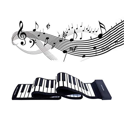 FFCVTDXIA 88-Key Portable Roll Up Piano, Rollo de Mano Piano Teclado de Silicona Ambiental para el hogar Principiante Niño Regalo Entretenimiento Juguete zhihao