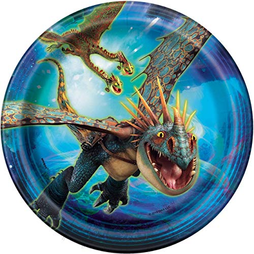 How to Train Your Dragon: The Hidden World - 7 Inch Desert Plates [8 per Pack]