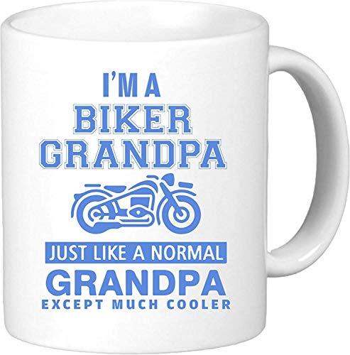 Soy un abuelo motociclista. Como un abuelo normal, excepto mucho más fresco. Taza de café novedosa inspirada en Harley, única y divertida, regalo de cumpleaños de motocicleta, regalo para él. De KTM