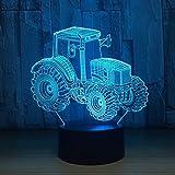 Ferme Tracteur Lampe Décoration Forme De Voiture Commutateur De Charge Touch Lumière Couleur Nuit Enfants Lumière Nouvel an Cadeau