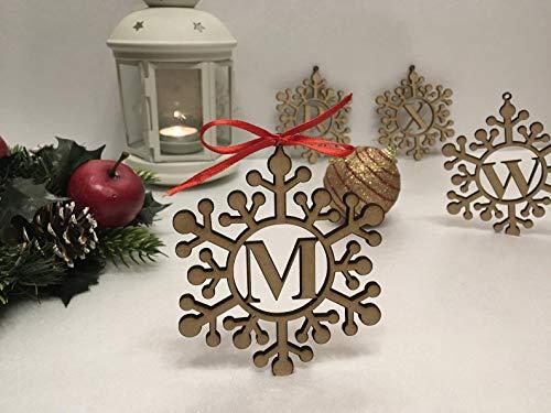 Personalisierter Weihnachtenanhänger mit Namen, Dekorieren von Weihnachtsbaum, Christbaumschmuck, Geschenke für die Familie, Etiketten, Geschenkanhänger, Weihnachtsdeko zum Aufhängen, Schneeflocke