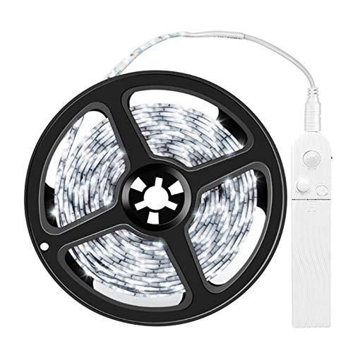 Kstyhome Tira de luces LED 3.28ft 6500K Luz de cinta blanca fría con sensor de movimiento Cinta de luz Impermeable Cinta flexible debajo de gabinete Iluminación de cuerda Iluminación para hogar Cocina