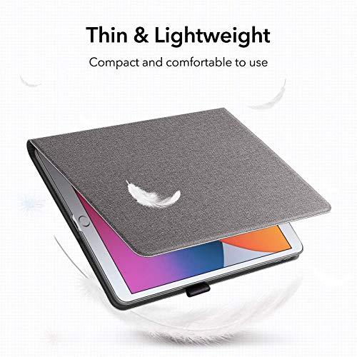 ESR Hülle für iPad 8.Generation 2020/7.Generation 2019 mit Stifthalter, Folio-Schutzhülle für iPad 10,2 Zoll [Buch Cover Design] [Multiwinkel-Ständer], Twilight