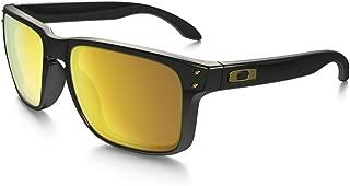 Oakley Holbrook Sunglasses,  Polished Black / 24K Gold Iridium, One Size