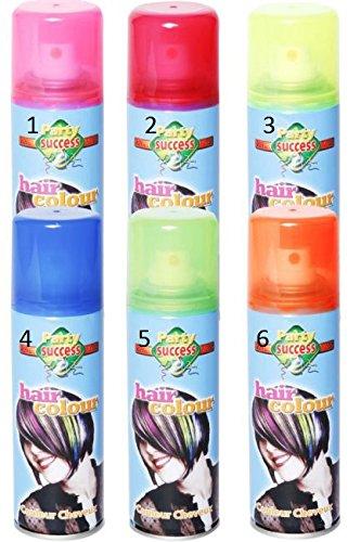Bombe couleur fluo pour cheveux - Deguisement - 125ml - Bleu fluo - 38955