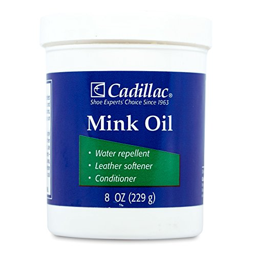 Cadillac Mink Oil for Leather Boots Shoes - Waterproof Leather - Water Repellent Softener & Conditioner Renovator Paste 8 oz