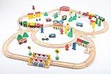 point-kids - Lote de 100 Piezas de Madera, diseño de vía del Tren