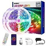 10M Tiras LED Wifi, WEILY tira de luz LED de sincronización de música que cambia de color, luces LED habitacion RGB para dormitorio TV Decoración del hogar