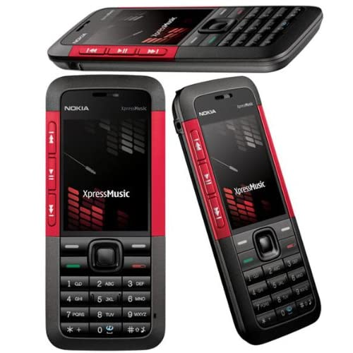 Nokia  Téléphone  portable 5310 Xpress Music rouge lecteur MP3 / slot mémoire / app.photo 2Mpix