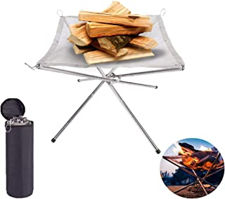 Portable Outdoor Fire Pit Collapsing Steel Mesh Fireplace,Camping Stainless Steel Mesh Fireplace, Ultra Foldable Fire Pit ...