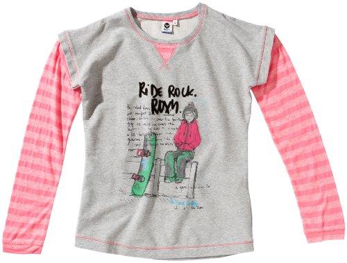 Roxy Hold My Main Chemise à Manches Longues pour Fille Gris Gris 164/14 Jahre