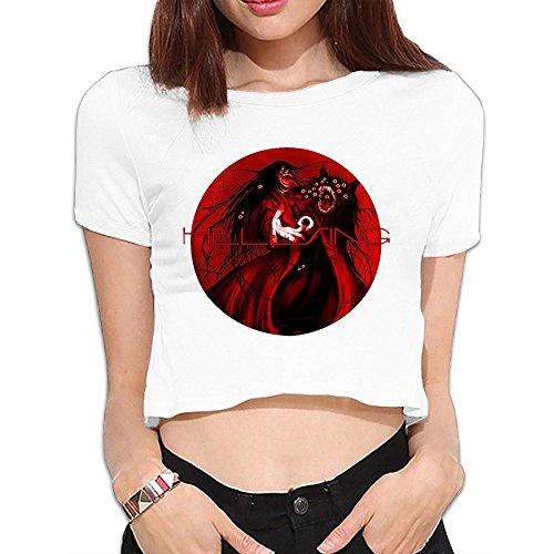 Hellsing Crop Top corto thirt camisa ocio de la mujer Tee