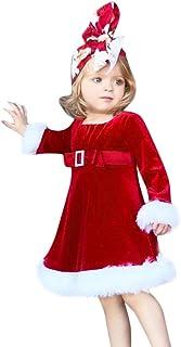 K-youth Ropa para Bebe Niña Navidad Vestido Bebe Niña Disfraz Papá Noel Tutú Vestidos Niña Invierno Vestidos De Fiesta par...