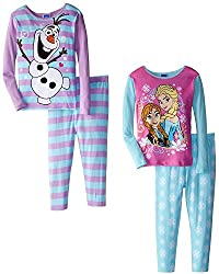 Anna, Elsa and Olaf 4 Piece PJ Set for Girls