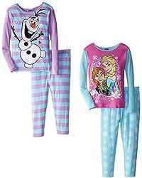 Anna, Elsa and Olaf 4 Piece PJ Set for Girls