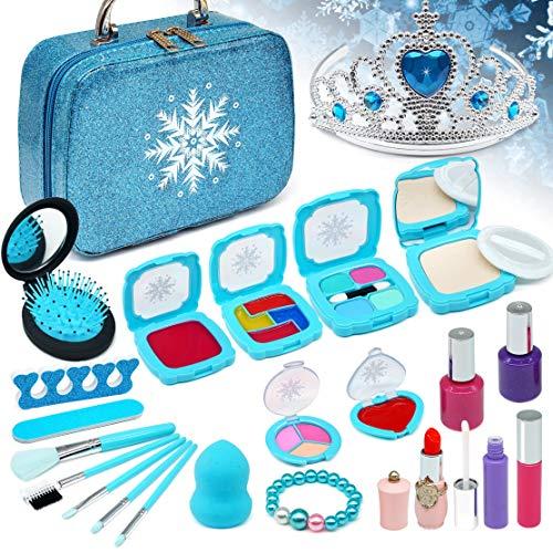 Enjoybot Kids Makeup Kit for Girl - 2021 Newest 23PCS Frozen Toys for Girls ,Real Kids Makeup Toys ,Kids Makeup Kit for Girls, Best Girl Gifts for 3/4/5/6/7year
