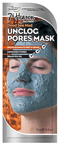 7th Heaven Unclog Pore Dead Sea Mud Mask for Men With Natural Clay to Remove Oil, Dirt and Grime Without Over-Drying the Skin - Ideal for All Skin Types