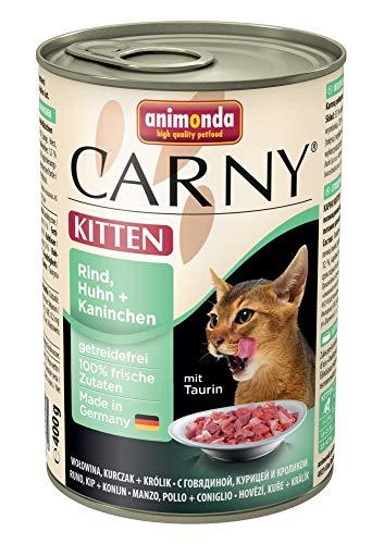 Animonda Carny Kitten Rind & Huhn & Kaninchen 400g (Menge: 6 je Bestelleinheit)