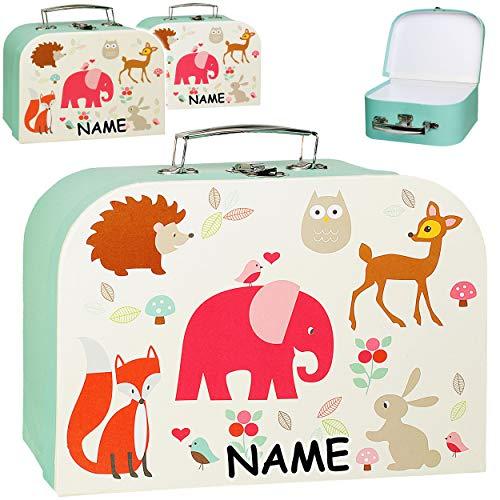 alles-meine.de GmbH Kinderkoffer / Koffer - GROß - Tiere - Elefant / Eule / REH / Fuchs - incl. Name - ideal als Geldgeschenk und für Spielzeug - Mädchen & Jungen - Kinder & Erwa..