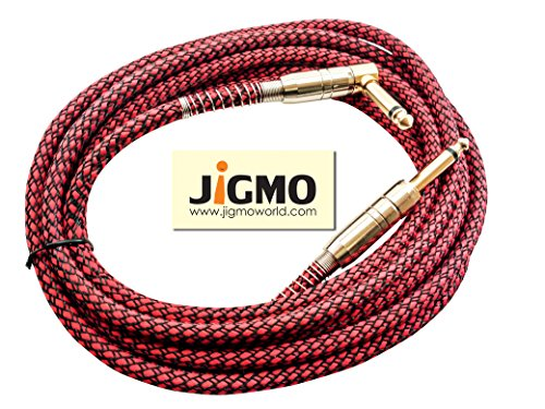 Guitar Cable 3m For Electric Guitar, Acoustic & Bass Guitars, Violins, Amps...