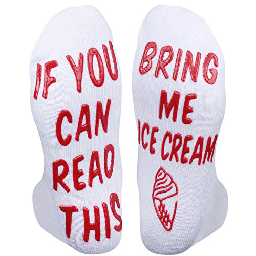 Funny Saying If You Can Read This Bring Me Ice Cream Ankle Socks-Novelty Gifts For Ice Cream Lover