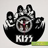 Schallplattenuhr KISS