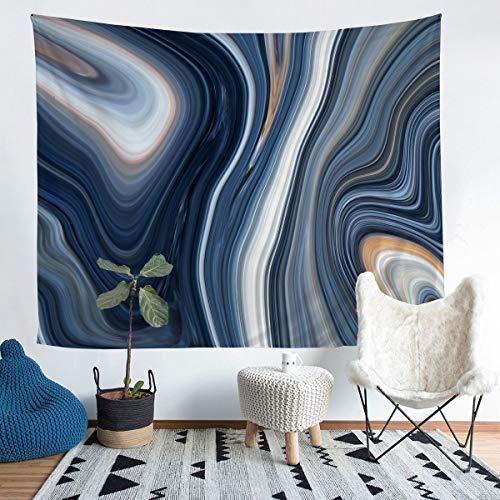 Loussiesd Tapiz de mármol para niñas y niños, patrón de mármol, manta decorativa de pared, textura de mármol, para colgar en la pared, arte abstracto, manta de cama de tamaño mediano 128 x 159
