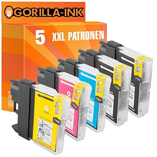 Gorilla de Ink 5x Cartuchos de Tinta XXL compatible para Brother LC985DCP-J 125DCP-J de 140W DCP J 315W
