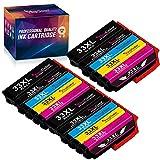 YINGCOLOR 33XL - Cartuchos de tinta de repuesto para Epson 33 Multipack 33 XL compatibles con Epson Expression Premium XP-7100 XP-540 XP-830 XP-900 XP-645 XP-530 XP-640 XP-635 XP-630 (15 unidades)