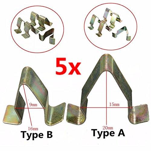 Alamor 5Pcs Garnitures en Métal Doublure De Panneau D'Habillage Intérieur pour VW Audi Seat Skoda-A