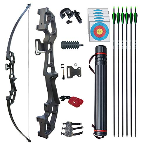 D&Q Archery Set Adult Bow and Arrow Set Adult Takedown Recurve Bow Hunting...