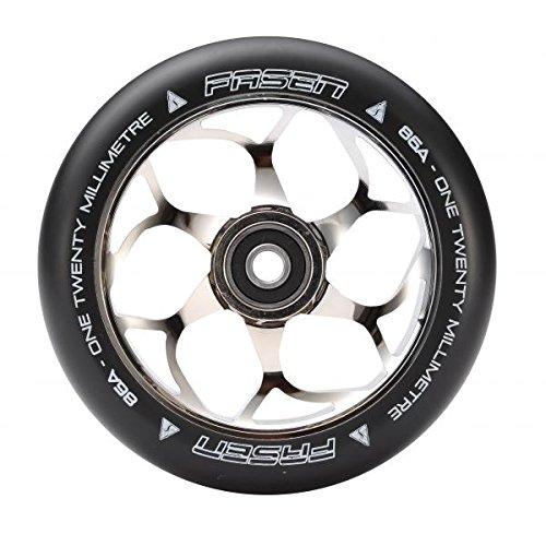Fasen 120mm Stunt Scooter Wheel + rodamientos ABEC 9 chrome