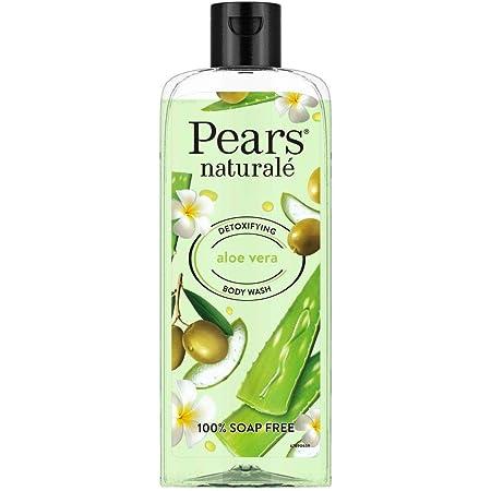 Pears Naturale Detoxifying Aloevera Bodywash, With Olive Oil & Aloe Vera, Paraben Free, Soap Free, Eco Friendly, Dermatologically Tested, 250 ml