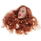 sharprepublic 1/6 Frisurenkopf Weibliche Kopf Sculpt mit Haar Actionfigur Kopf Damen für 12 Zoll Weibliche Figur, Spielzeug Kopf Zubehör - b -