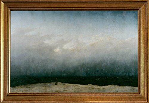 Berkin Arts Rahmen Caspar David Friedrich Giclée Leinwand Prints Gemälde Poster Reproduktion(Der Mönch am Meer)