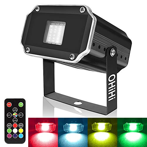 Super Bright Strobe Lights, OHiHi Sound Activated Mini 20W LED Strobe Light, Remote Control Flash Stage Lighting, Best for DJ Xmas Halloween Club Bar Show Party