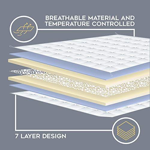 YnM Weighted Blanket — Heavy 100% Oeko-Tex Certified Cotton Material with Premium Glass Beads (Blue White, 60''x80'' 15lbs), Suit for One Person(~140lb) Use on Queen/King Bed