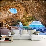 Zybnb Tapeten-Strand-Riff-Höhlen-Wohnzimmer-Schlafzimmer-Sofa-Hintergrund-Foto-Tapeten-Rolle3D Deswandbild-3D