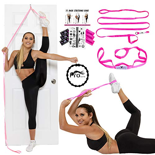 Stunt Stand Door Flexibility & Stretching Leg Strap - Great for Cheer, Dance, Gymnastics or Any Sport! Free How-to-Use Links Included …