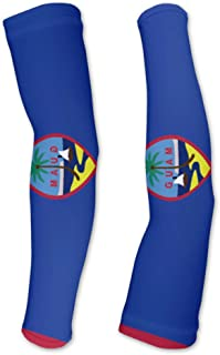 Guam Flag Compression Arm Sleeves UV Protection Unisex - Walking - Cycling - Running - Golf - Baseball - Basketball